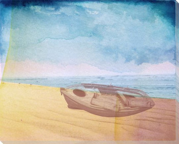 Coastal Dinghy Boat Wrapped Canvas Giclee Print Wall Art