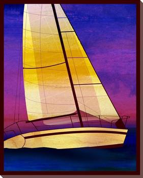 Sailing Skies Three Wrapped Canvas Giclee Print Wall Art