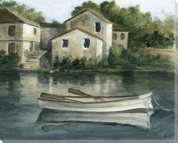 Still Waters Boat I Wrapped Canvas Giclee Print Wall Art