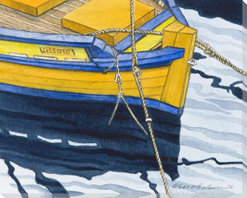 Boat Series 1 Number 2 Wrapped Canvas Giclee Print Wall Art
