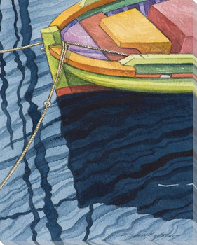 Boat Series 1 Number 7 Wrapped Canvas Giclee Print Wall Art