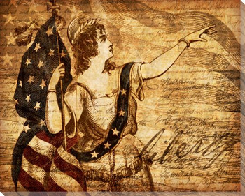 Right of Liberty Wrapped Canvas Giclee Print Wall Art