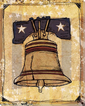 American Liberty Bell Wrapped Canvas Giclee Print Wall Art