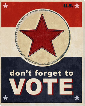 Election: Don't Forget to Vote Wrapped Canvas Giclee Print
