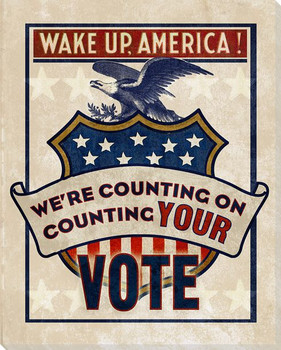 Election: We're Counting on Your Vote Wrapped Canvas Giclee Art Print