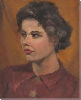 Hannah Portrait Wrapped Canvas Giclee Print Wall Art