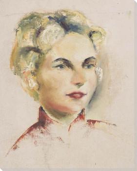 Martha Portrait Wrapped Canvas Giclee Print Wall Art