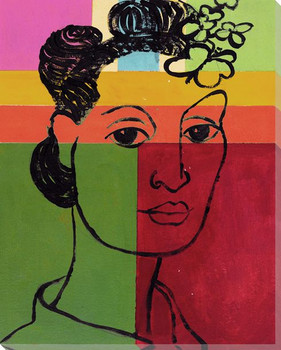 Portrait Block 1 Wrapped Canvas Giclee Print Wall Art