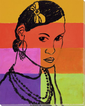 Portrait Block 2 Wrapped Canvas Giclee Print Wall Art