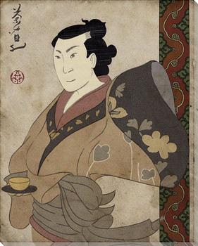 Male Asian Portrait Wrapped Canvas Giclee Print Wall Art