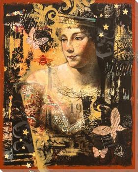 La Revasserie Portrait Wrapped Canvas Giclee Print Wall Art