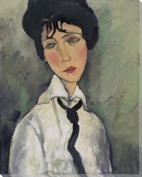 Modigliani Study with Black Tie Wrapped Canvas Giclee Print