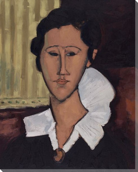 Modigliani Study with Lace Collar Wrapped Canvas Giclee Print