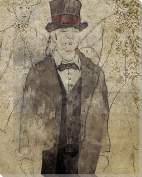 Colonial Gentleman Portrait Wrapped Canvas Giclee Print Wall Art