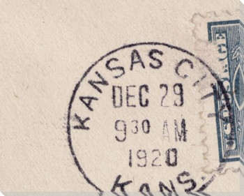 U.S. Postage Stamp Kansas City Wrapped Canvas Giclee Print Wall Art