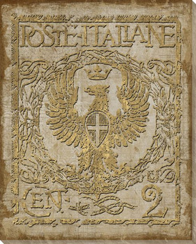 Poste Italiane Light Uno Stamp Wrapped Canvas Giclee Print Wall Art