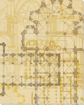 Third Church Plan Wrapped Canvas Giclee Print Wall Art