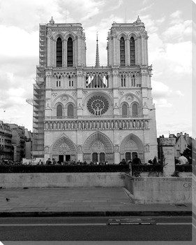Notre Dame Cathedral Wrapped Canvas Giclee Print Wall Art