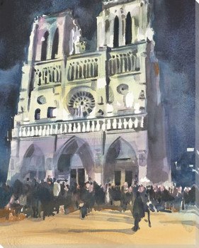 Cathedral Church of Notre Dame Wrapped Canvas Giclee Print