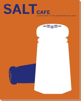 Salt Cafe Wrapped Canvas Giclee Print Wall Art