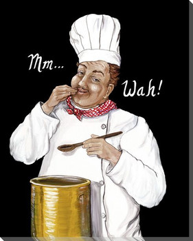Mm Wah Chef Wrapped Canvas Giclee Print Wall Art
