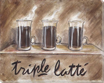 Triple Latte Wrapped Canvas Giclee Print Wall Art