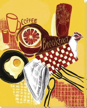 Coffee for Breakfast Wrapped Canvas Giclee Print Wall Art