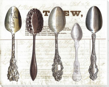 Five Spoons Soft Elegant Wrapped Canvas Giclee Print Wall Art