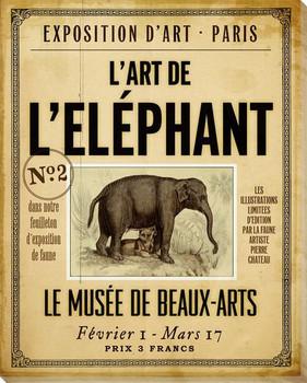 L'Elephant Wrapped Canvas Giclee Print Wall Art