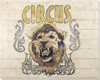 Cirque-Lion Wrapped Canvas Giclee Print Wall Art