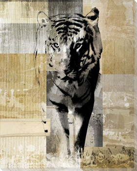 Walking Tiger Wrapped Canvas Giclee Print Wall Art