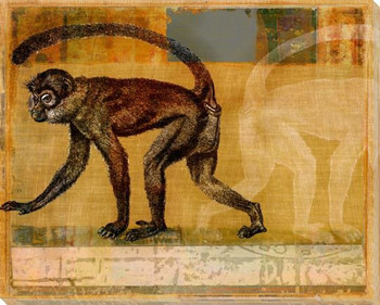 Monkey Collage Wrapped Canvas Giclee Print Wall Art