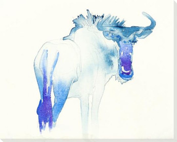 Wildebeest Wrapped Canvas Giclee Art Print Wall Art