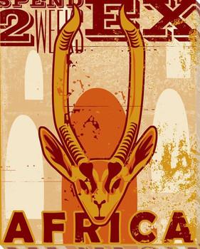 Adventure Gazelle Wrapped Canvas Giclee Print Wall Art