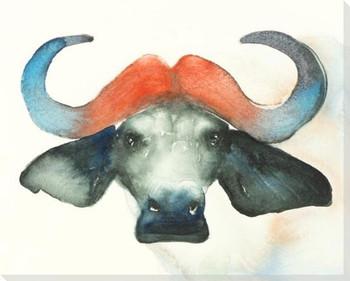 Water Buffalo Wrapped Canvas Giclee Art Print Wall Art