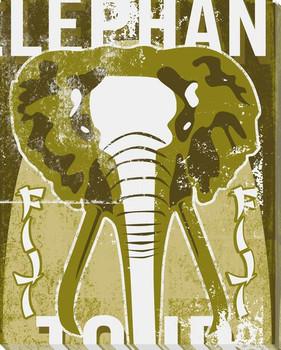 Adventure Elephant Wrapped Canvas Giclee Print Wall Art