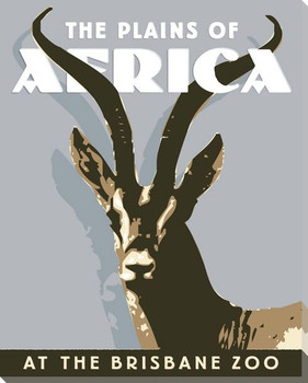 Gazelle Zoo Poster Wrapped Canvas Giclee Print Wall Art