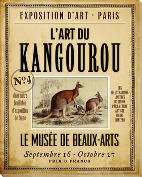 Kangourou Kangaroo Wrapped Canvas Giclee Print Wall Art