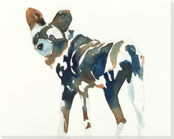 African Wild Dog Wrapped Canvas Giclee Art Print Wall Art