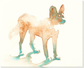 Hole African Dog Wrapped Canvas Giclee Art Print Wall Art