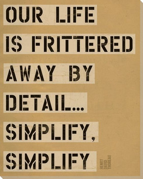 Our Life is Frittered... Saying Wrapped Canvas Giclee Print