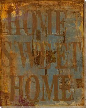 "Urban ""Home Sweet Home"" Wrapped Canvas Giclee Print Wall Art"