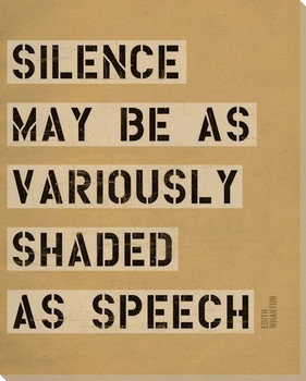 Silence May Be... Saying Wrapped Canvas Giclee Print Wall Art