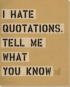 I Hate Quotations... Saying Wrapped Canvas Giclee Print Wall Art