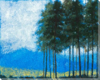 Towering Pines Wrapped Canvas Giclee Print Wall Art