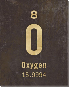 Oxygen - Periodic Table of Elements Wrapped Canvas Giclee Print