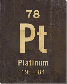 Platinum - Periodic Table of Elements Wrapped Canvas Giclee Art Print