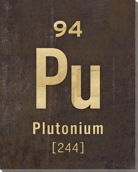 Plutonium - Periodic Table of Elements Wrapped Canvas Giclee Art Print