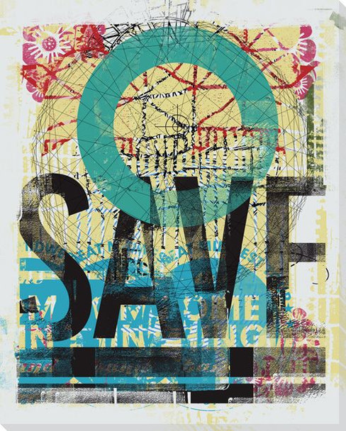 """SAVE"" Press Sheet Wrapped Canvas Giclee Print Wall Art"