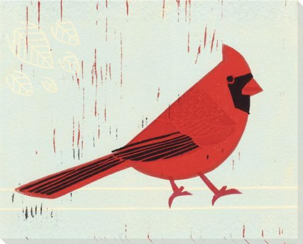 Cardinal Bird Wrapped Canvas Giclee Print Wall Art